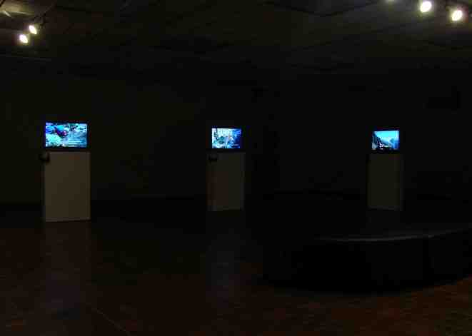 Installation shot - 4 channel video exhibit